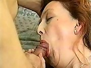 Pregnant mature sucking hard cock